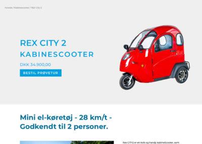 Rex Kabinescooter – website